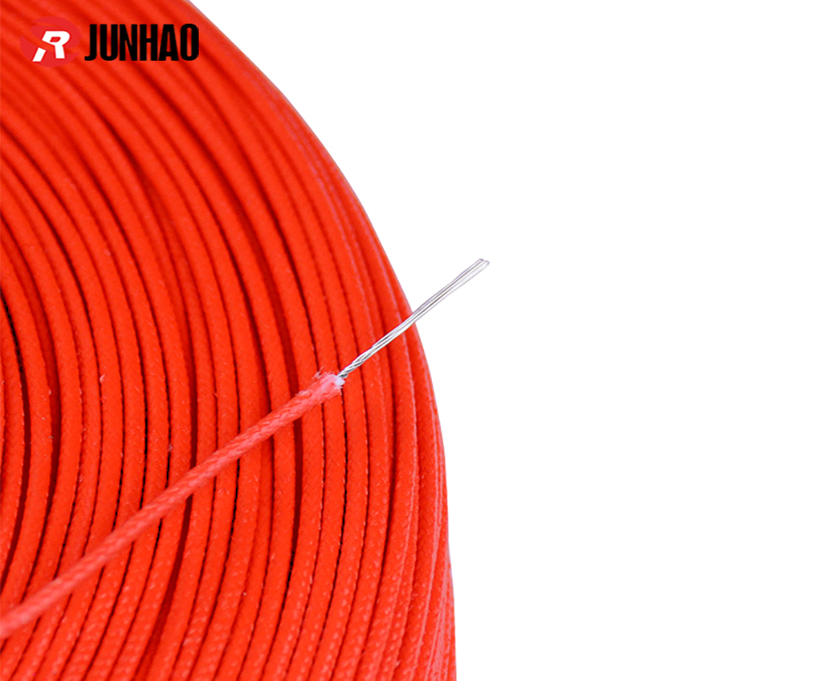 UL3122 24awg Fiberglass Braided Electrical Cable Silicone Rubber Insulated Wire 2