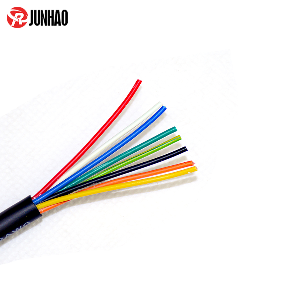 Flexible 24AWG 8 Core  6.8mm cable, PVC Insulated Cable 1