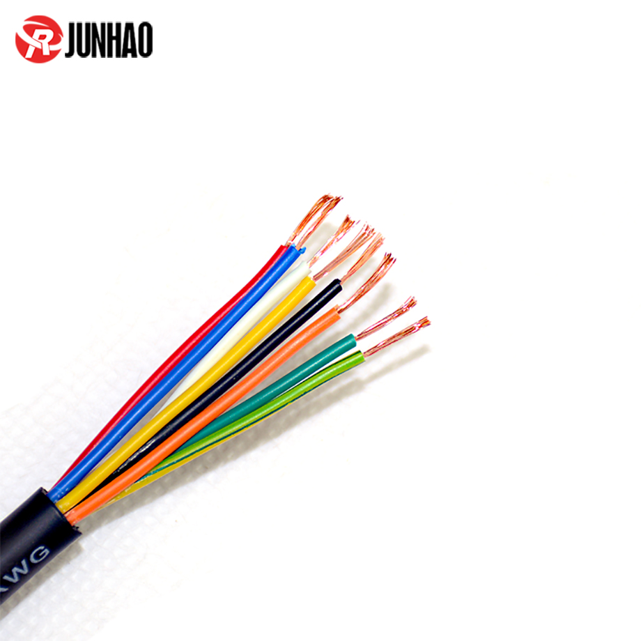 Flexible 24AWG 8 Core  6.8mm cable, PVC Insulated Cable 2
