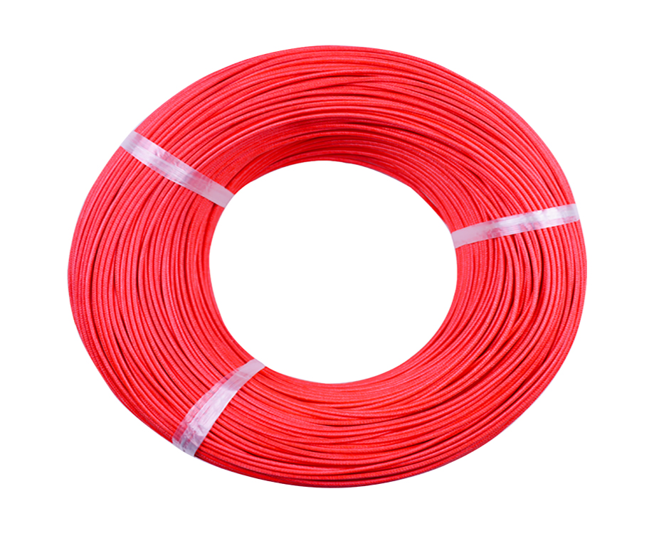 UL3122 Silicone Rubber Fiberglass Insulated Braided Wire 300V 17 Gauge 3