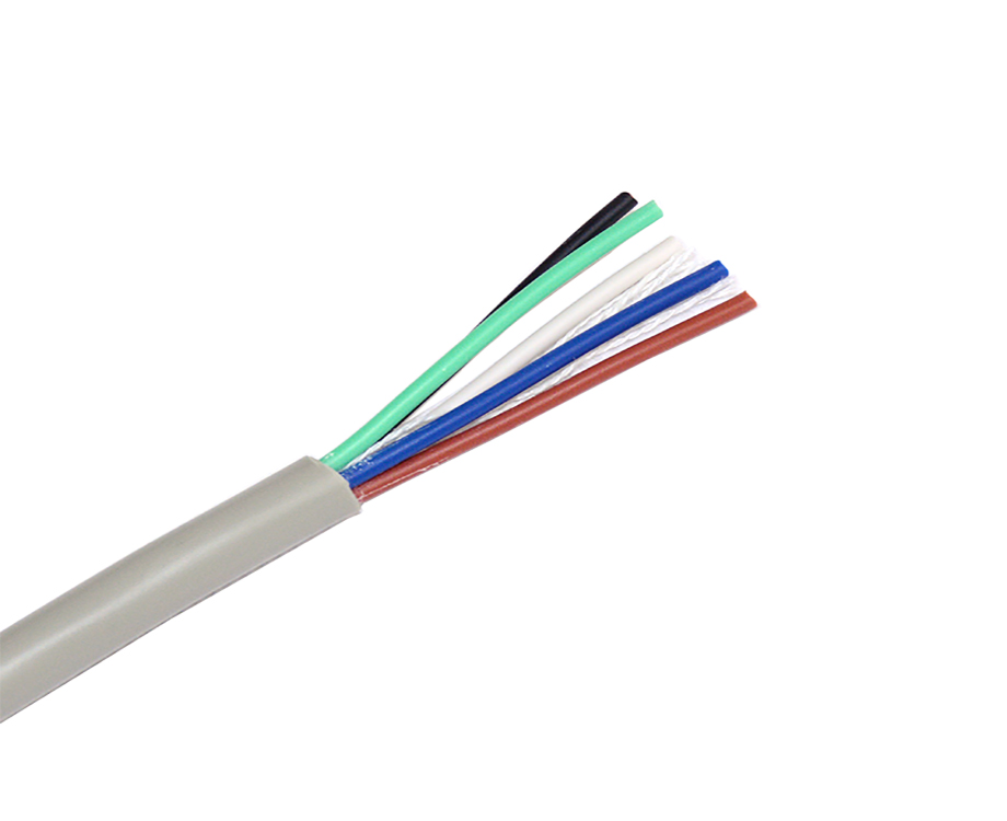 Strand Copper 5 Core PVC Insulation Electrical Wires 20AWG 2